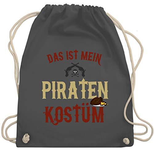 Karneval & Fasching - Das ist mein Piraten Kostüm - Unisize - Dunkelgrau - WM110 - Turnbeutel & Gym Bag