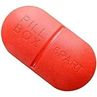 Pille Box Große Kapazität Und Multifunktionale 6 Fächer Reise-Set-Speicher Boxen Pillen Speicher,Red,9.6X3X5.2CM preisvergleich bei billige-tabletten.eu