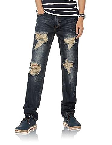 Demon&Hunter 802R Series Men's Straight Leg Regular Fit Jeans 802R5(38)