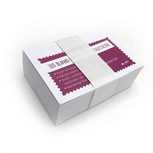 100er Set blanko Karten DIN A7 - DIY I zum Selbstgestalten Basteln Malen Beschreiben, für Notizen, als Karteikarte und vieles mehr I dv_411