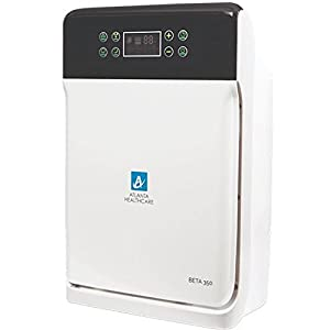 Atlanta Healthcare HEPA PURE Beta 350, 7-Stage Purification 350 sq. ft., 225m3/hr. air flow Air Purifier with Remote Control, Air Quality Odor Sensor(White)
