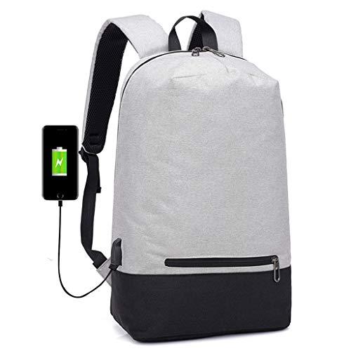 Preisvergleich Produktbild HYKJ Business Laptop Rucksack mit USB-Lade-Schnittstelle,  Kopfhöreranschluss,  wasserdichtes Segeltuch,  Polyester,  geeignet für 39, 6 cm (15, 6 Zoll) Computer-Rucksack,  Herren und Damen,  Freizeit Schule
