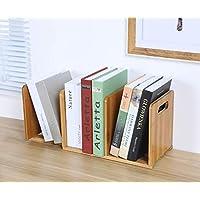 Ganeed Expandable Desktop Bookshelf,Bamboo Desktop Bookcase,Mini Bookshelf Organizer Tabletop Bookshelf for Office Home Tabletop