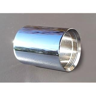 M22 IG x M22 IG, Verlängerung je M22 Innengewinde, Chrom, Übergang für innenliegende Perlstrahler Gewinde am Wasserhahn M22x1IGxM22x1IG, z.B. zur Anbringung eines Aquadea Kristall-Trinkwasser Wirbler oder eines Übertischfilter wie Sanuno, Okato