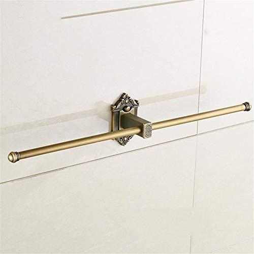 VHVCX Vintage Bronze Bad-Accessoires Europäischer Brushed Massives Messing Badezimmer Hardware Set Der Wand Befestigte Geschnitzte Badprodukte, Towle Bar 2 Towle Bar