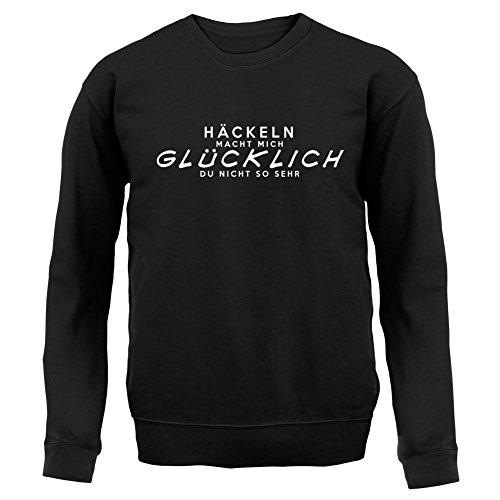 Häckeln macht mich glücklich - Unisex Pullover/Sweatshirt - 8 Farben Schwarz