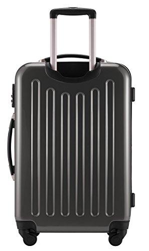 HAUPTSTADTKOFFER® 2er Hartschalen Kofferset · 2x Koffer 119 Liter (75 x 52 x 32 cm) · Hochglanz · TSA Zahlenschloss · CHAMPAGNER Titan