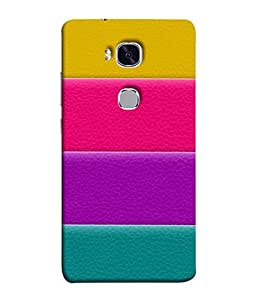 PrintVisa Designer Back Case Cover for Huawei Honor 5X :: Huawei Honor X5 :: Huawei Honor GR5 (Colourful Wide Striped Design)