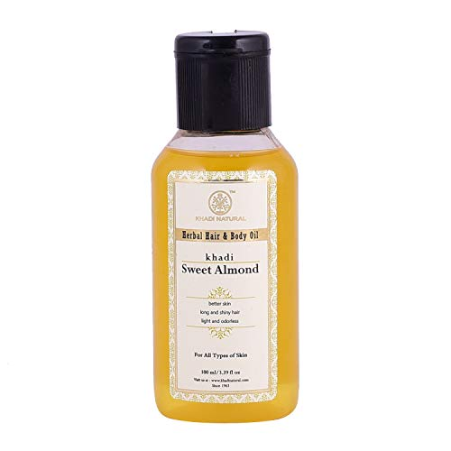 Khadi Natural Ayurvedic Sweet Almond Oil, 100ml