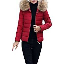 Theshy Damen Winterjacke Wintermantel Lange Daunenjacke Jacke Outwear Frauen Winter Warm Daunenmantel Arbeiten Sie Festen beiläufigen dickeren dünnen Mantel um