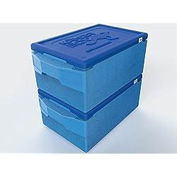 "Thermobox, Kängabox, Pizzabox, Transportbox ""FRESH BLUE"" 67,5x40x29cm für GN 1/1 Transport , 39 Liter"