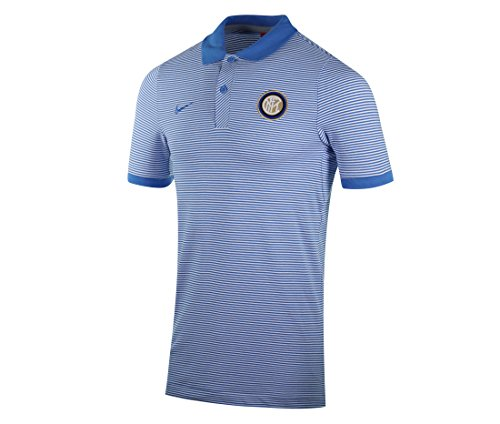 Nike M NSW GSP PQ aut Polo manches courtes inter de Milan, homme azul (lt photo blue / white / lt photo blue)