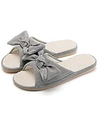 Zhiling Chanclas- Zapatillas Arco para Mujer Mezcla de algodón y Lino Absorbente del Sudor Transpirable
