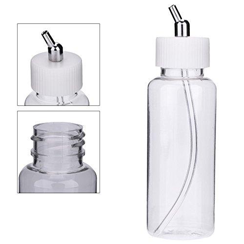 KKmoon 10PCS 100cc Airbrush Plastikflaschen Topf Deckel Adapter Dual-Action-Siphon Futtermittel Air Brush Gläser Airbrush Zubehör Farbe Flasche