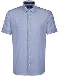 Seidensticker Herren Businesshemd Tailored Kurzarm mit Kent Kragen Bügelfrei