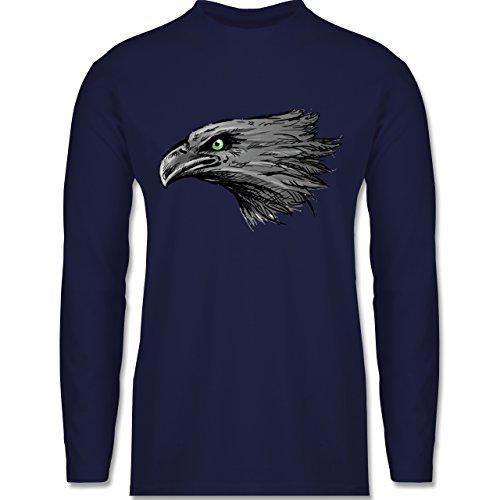 Shirtracer Vögel - Adler - Herren Langarmshirt Navy Blau
