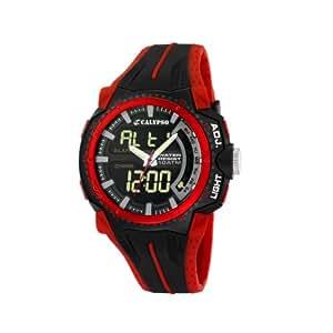 Calypso - K5539/3 - Montre Homme - Quartz - Digitale - Eclairage-Chronomètre-Temps intermédiaires-Alarme - Bracelet Caoutchouc multicolore