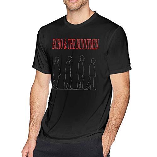 AOCCK Sportbekleidung Herren Kurzarmshirt, Mens Particular Echo & The Bunnymen T-Shirts Black - Echo-pullover Mit V-ausschnitt