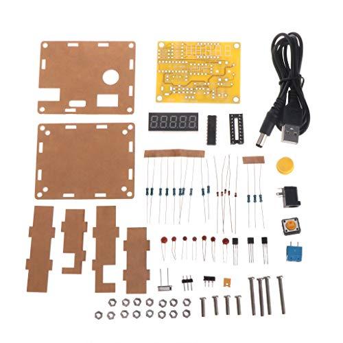 Rongzou Tester DIY Kits 1Hz-50MHz Quarzoszillator Frequenzzähler Meter mit Fall Voltage Detector Kit