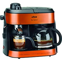 Ufesa CAFETERA Express CK7355 1800W,HIDROPRESION, 7600 W, 0.22, Acero Inoxidable,