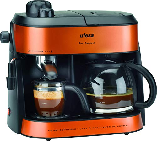 UFESA CK7355 Machine à café Double Emploi Orange 1 800 W, 1800 W, 1.5 liters