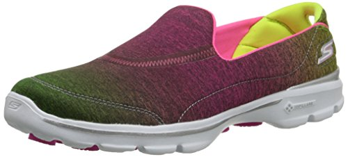 Skechers GO WALK 3 - AURA, Scarpe indoor multisport donna, Rosa (Pink (Pklm)), 39