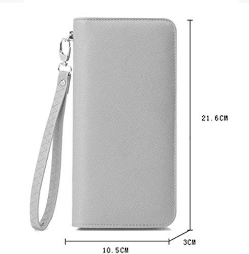 La signora femminile portafoglio lungo tratto del Bill clip Zipper Signore frizione Portafoglio grande capacità della carta Portafoglio Sacchetto di scuola ( colore : Rosa ) Rosa