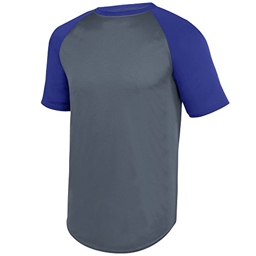 Augusta Herren T-Shirt GRAPHITE/PURPLE