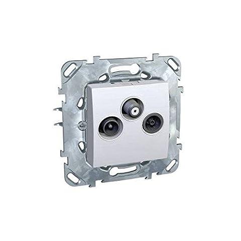 SCHNEIDER - Mécanisme prise TV/FM/SAT - Unica plus - MGU50.450.18ZG