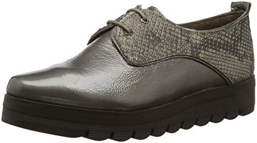 24 HORAS 23830, Zapatos de Cordones Oxford para Mujer, Gris (Fango 11), 36 EU