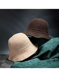 FRGVSXZCX Moda Cappelli Cappellino Giapponese Donna Casual Knit Lana  Cappello Donna Autunno e Inverno Tinta Unita f2159f2a893b