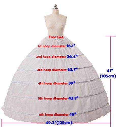 Petticoat Reifrock Unterröcke Damen Lang Fur Brautkleid Hochzeitskleid Vintage Crinoline Underskirt. Grün