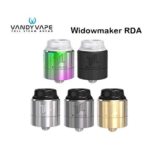 Original Vandy Vape Widowmaker RDA Tank 1 ML VandyVape Tres tapas de flujo de aire ajustables Atomizador para E-cigarrillo Mod Box