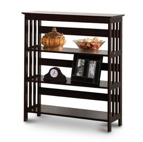 Mission Style Contemporary Cappuccino Espresso Book Shelf / Case Bookcase Bookshelf - Great for Rvs and Boats! by The Furniture Cove