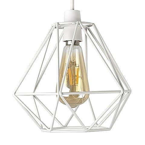 MiniSun – Retro, schöner und weißer Lampenschirm in Korbform aus