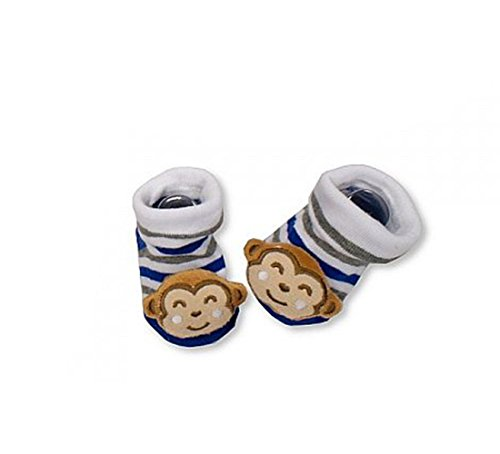 Sock Monkey Mädchen (KATIES PLAYPEN® / BABY BEST BUYS Baby Mädchen (0-24 Monate) Socken Blue Monkey 0-3 Monate)