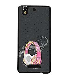 PrintVisa Designer Back Case Cover for Yu Yureka PlusYU5510A (beautiful musical pinkish head phone)