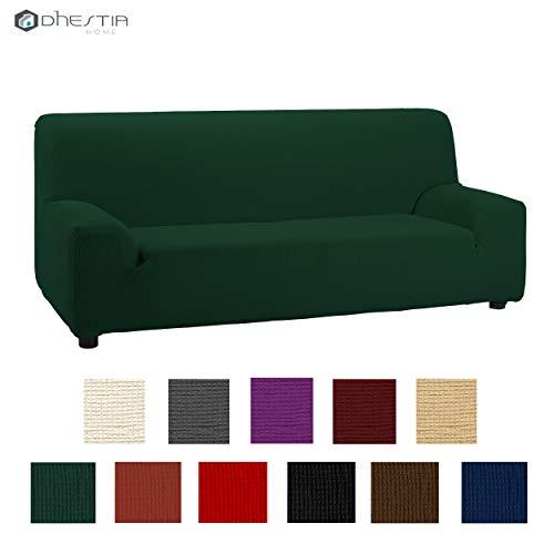 Dhestia - fodera elastica e adattabile con elastomero, misure di poltrona, divano 2 posti, 130/160, verde bottiglia, 130/160 cm