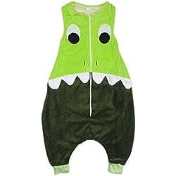 Niños Dinosaurio Onesies Pijamas Rompecabezas Mono, URAQT Niños Chicas Pyjamas Set Disfraces Cosplay Vestir para los niños de 4-5 años,verde, Tamaño M