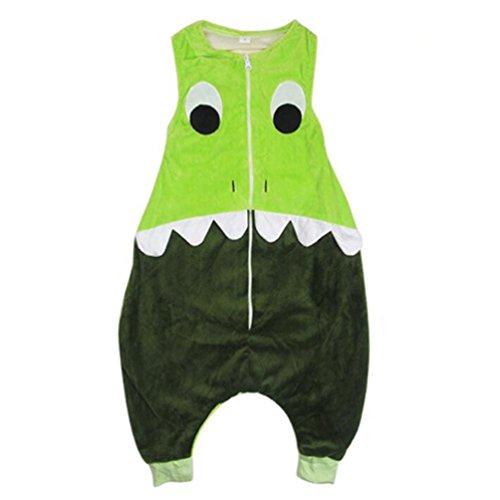 Kinder Dinosaurier Onesies Pyjama Overall, URAQT Jungen Mädchen Strampler Schlafanzüge Set Kostüme Cosplay Dressing Up, Größe M für Kinder von 4-5 (Halloween Wie Ein Dressing Für Up Baby)