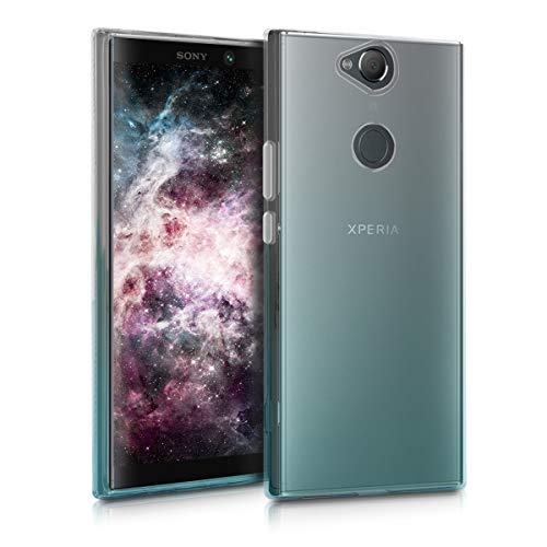kwmobile Sony Xperia XA2 Plus Hülle - Handyhülle für Sony Xperia XA2 Plus - Handy Case in Transparent Türkis Transparent