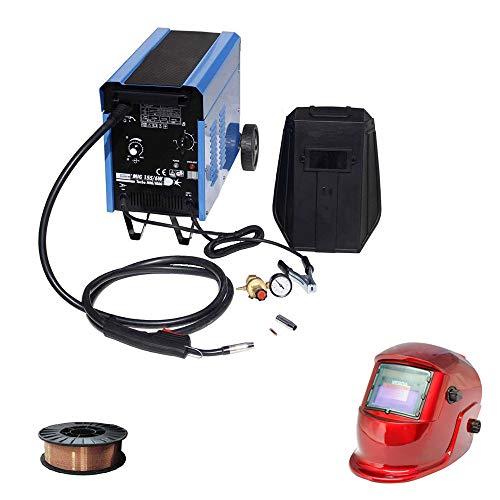 Güde Schutzgas Schweißgerät MIG 155 + 5 kg Schweißdrahtrolle & WD Tools Schweißhelm