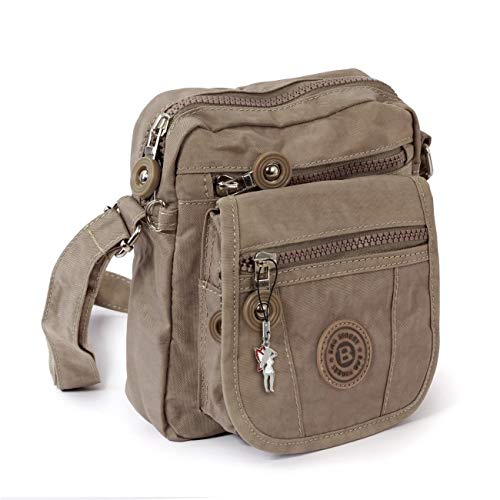 petit sac à main sac en bandoulière sac à épault bourse pochette sportif en Nylon stone