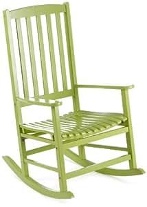 Belardo 251236 cosmia sedia a dondolo in legno di acacia colore verde giardino e - Amazon dondolo da giardino ...