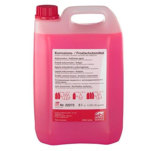 febi bilstein 22272 Frostschutzmittel G12 für Kühler (rot) 5 Liter