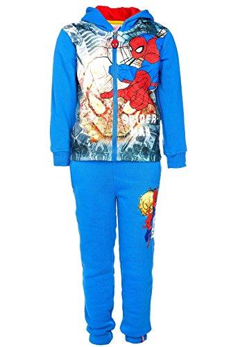 Marvel Spiderman Jogginganzug, original Lizenzware, blau, Gr. 98 (Kostüm Spiderman Kleinkind)