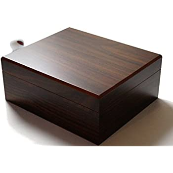 FLOUREON Cigar Humidors Box for 50-60 Cigars Handmade Wooden Cigar Humidors Box with Digital Hygrometer and Humidifier Double-Layer Design Cigar Tempered Glass Brown