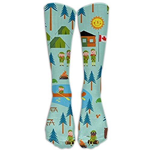 UFHRREEUR Boy Scouts Camp Turtle Athletic Tube Stockings Women's Men's Classics Stockings Socks Sport Long Sock One ()