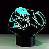 Fushoulu Neue Helle Bunte Fernnote Des Lichtes 3D Führte Nachtlicht-Neuheit 3D Führte Kindertischlampen 7 Farbänderungs-Schreibtischlampe