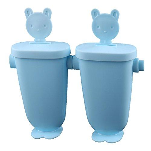 Familie Bär Dekor DIY gefrorene Süßigkeit Eis Lutscher Hersteller Form Schimmel hellblau (Gefrorene Halloween-dekoration)